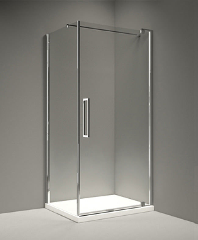 Merlyn 10 series 800mm clear glass pivot shower door for 10 panel glass door