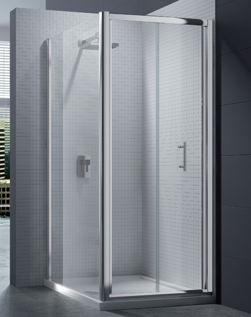 Merlyn 6 Series 4mm Clear Glass Bi Fold Shower Door 760 800mm