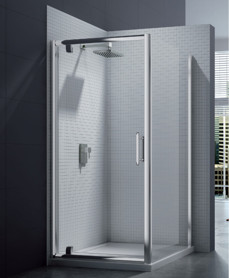Merlyn 6 Series 8mm Clear Glass Pivot Shower Door 760 800mm