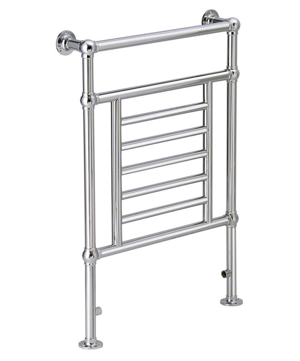Heated Towel Rail Height From Floor: DQ Heating Cranwich Floor Mounted Chrome Towel Rail 846 X