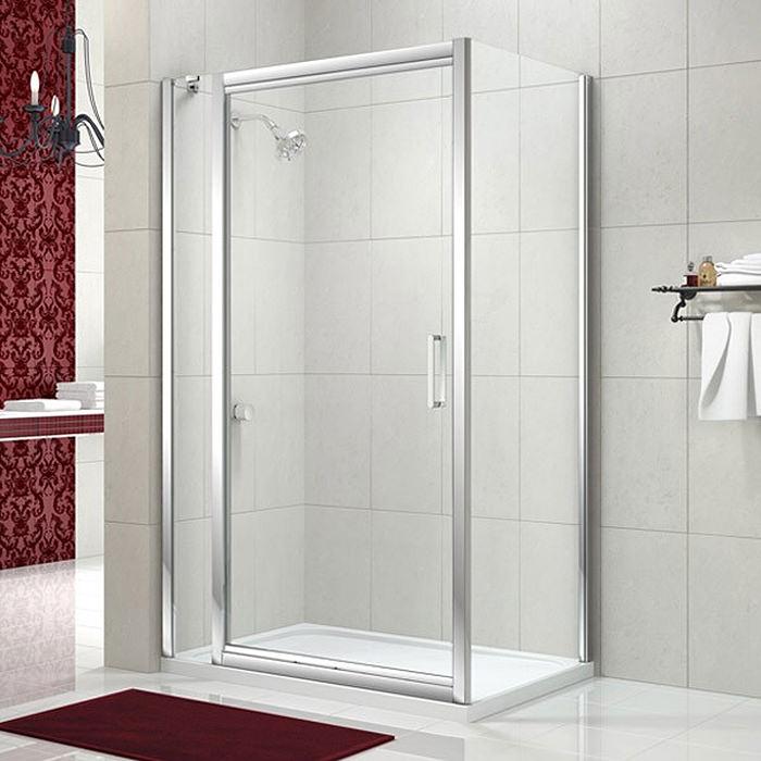 Merlyn 8 Series 900mm Infold Shower Door With 1 Inline Panel