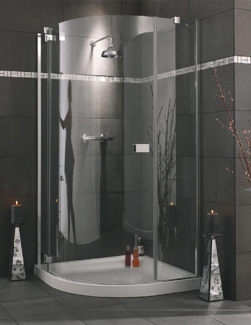 Lakes italia roma frameless hinged door quadrant enclosure for 1000 pivot shower door