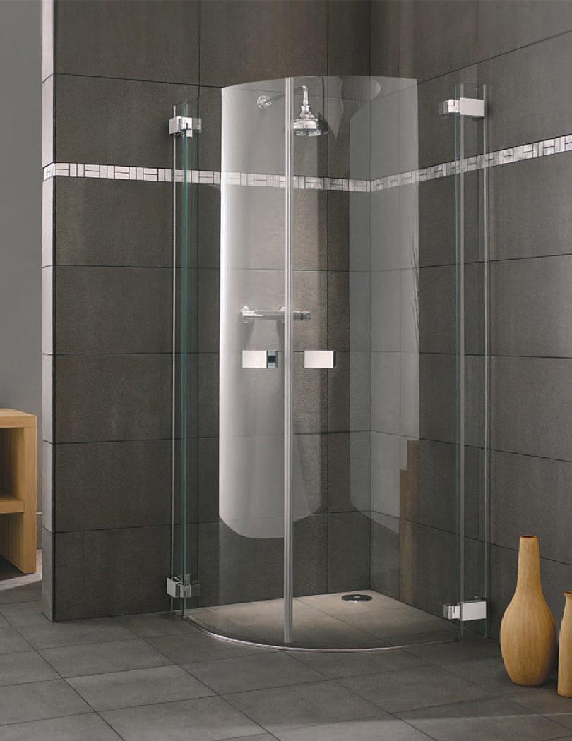 Lakes italia siena hinged door shower quadrant 900 x 900mm