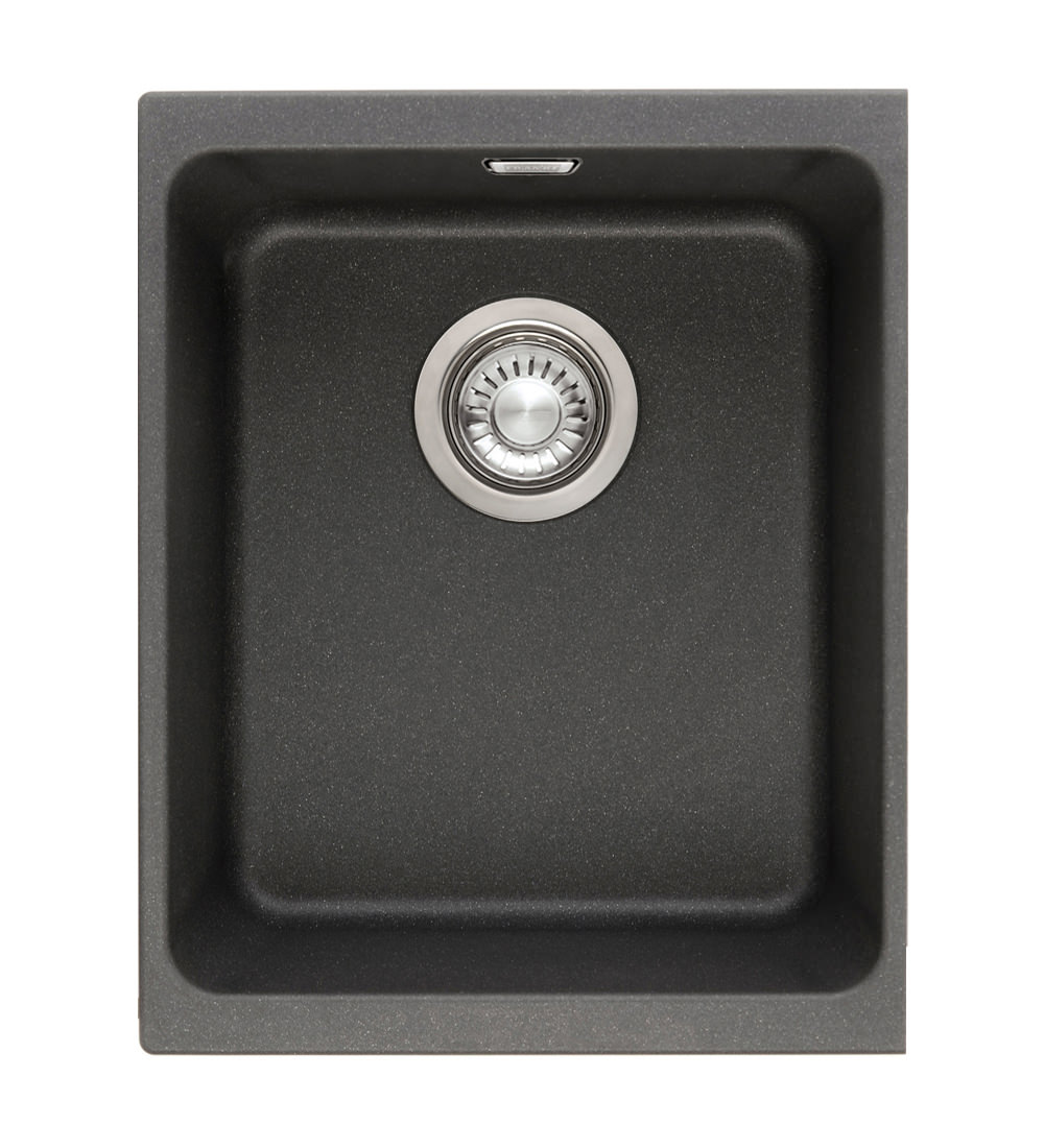 Franke Fragranite Undermount Sink : Franke Kubus KBG 110 34 Fragranite Onyx 1.0 Bowl Undermount Sink Image