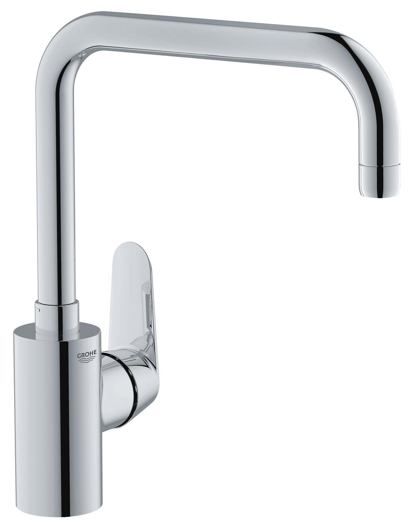 grohe eurodisc cosmopolitan monobloc high spout sink mixer tap. Black Bedroom Furniture Sets. Home Design Ideas