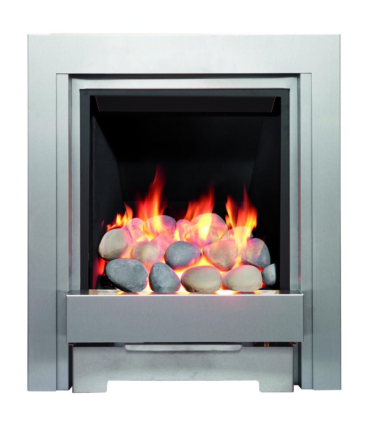 Be Modern Temptation Slimline Inset Gas Fire Brushed Steel