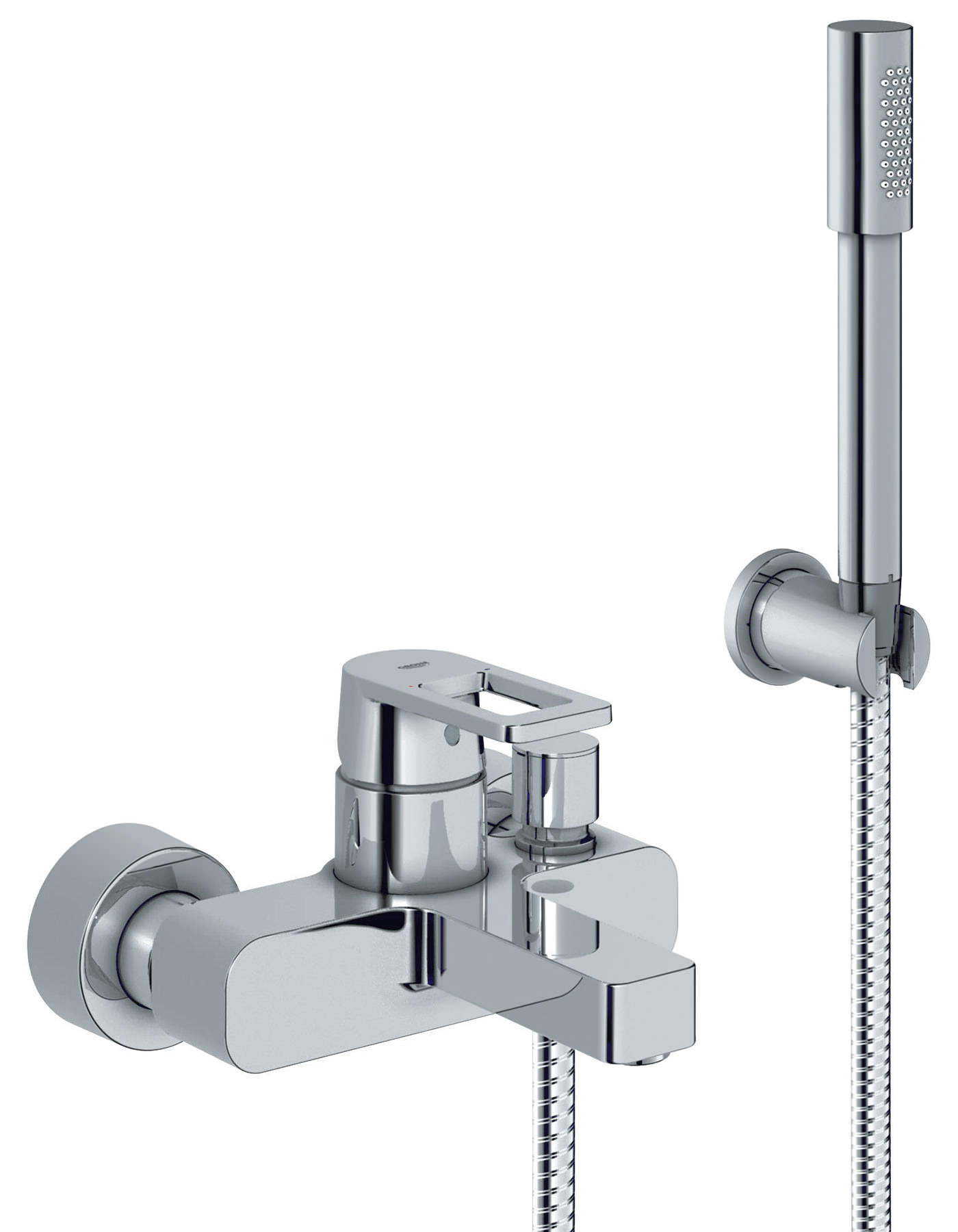 Bath Taps: Grohe Quadra Wall Mounted Bath Shower Mixer Tap With