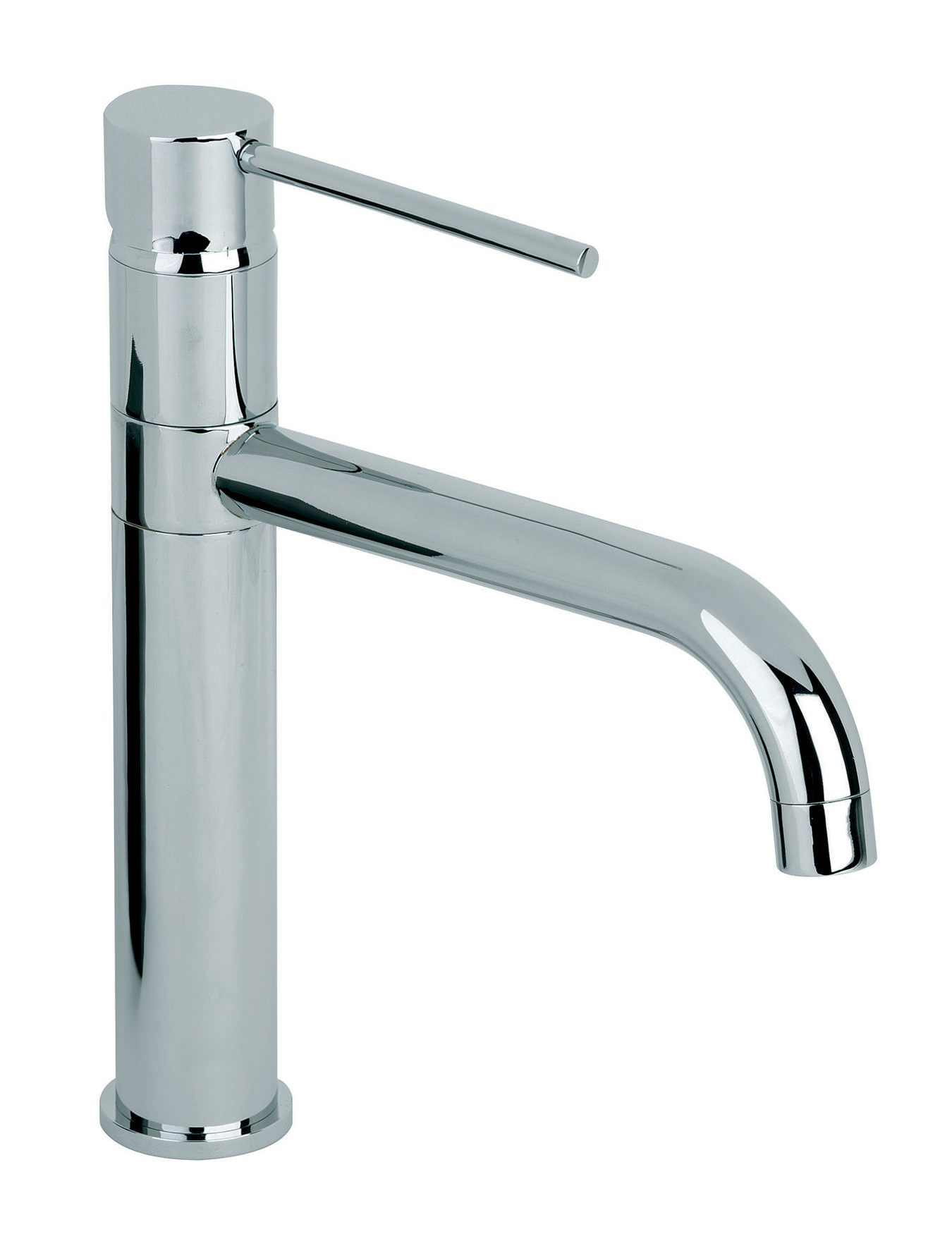 Mayfair ascot high rise kitchen mixer tap chrome with for Bathroom taps