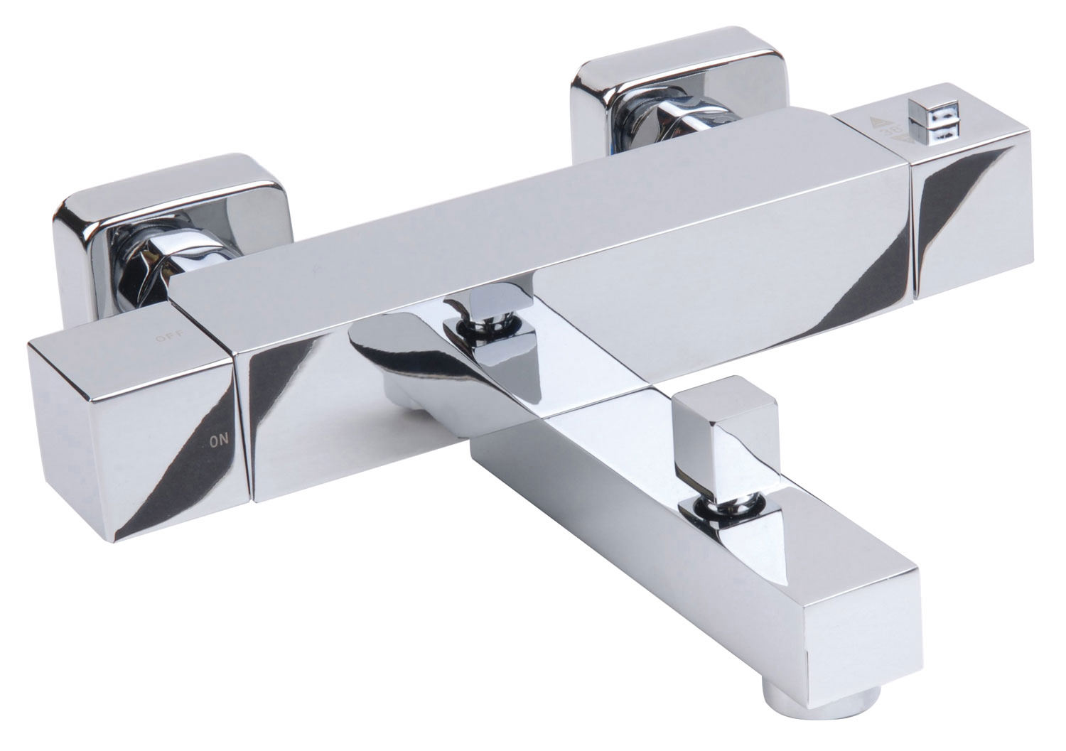 Mayfair Kubo Chrome Wall Mounted Bath Shower Mixer Tap