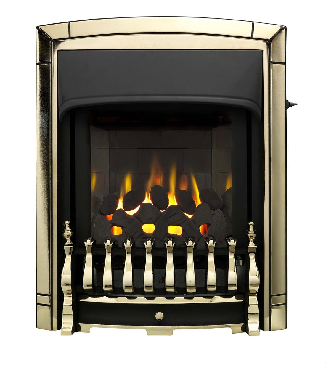 valor dream slimline homeflame slide control inset gas fire gold