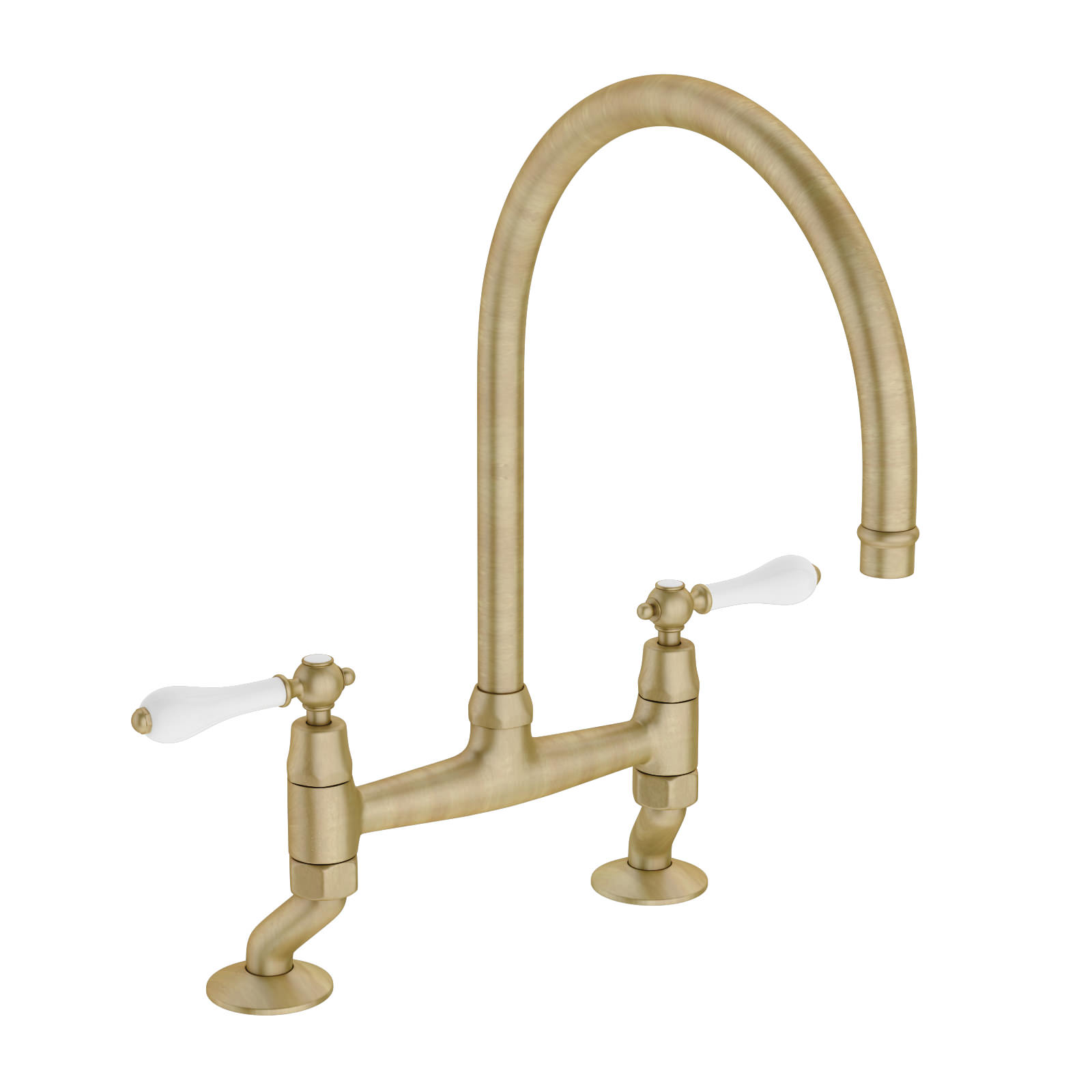 Abode Ludlow Bridge Antique Bronze Kitchen Mixer Tap