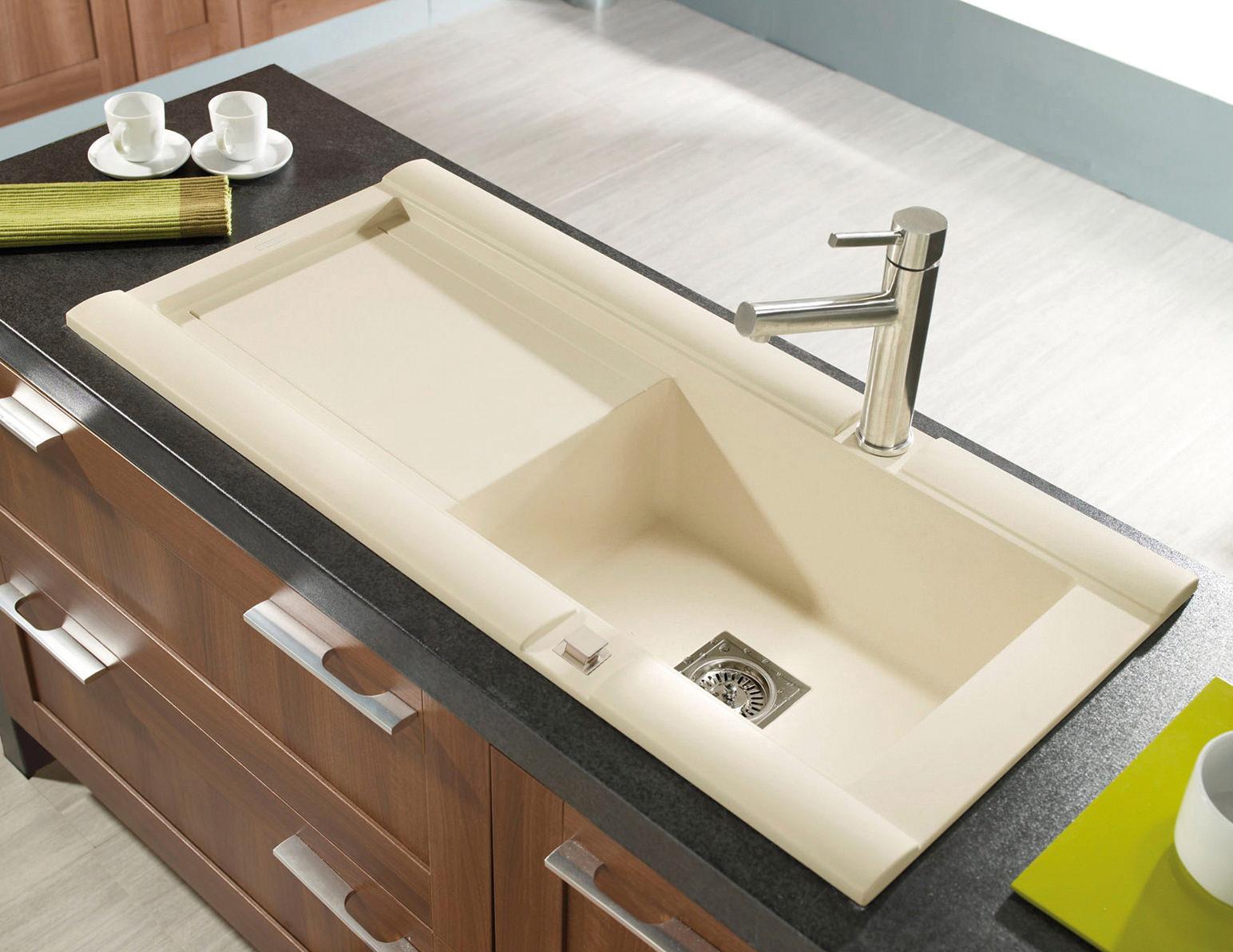 Rok Granite Sinks : Astracast Geo 1.0 Bowl Composite ROK Granite Inset Sink - GE10RHHOMESK