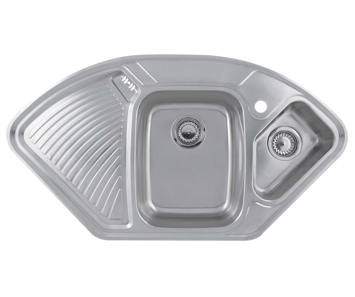 Astracast Lausanne 1.5 Bowl Polished Stainless Steel Corner Inset Sink