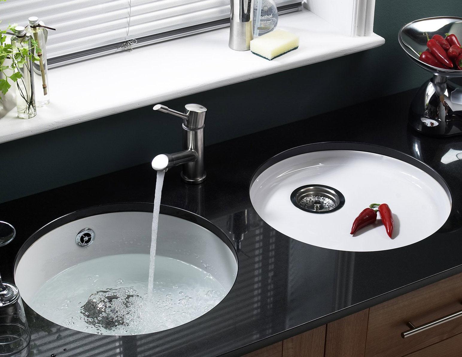 Undermount Kitchen Sink Ceramic. Arcora 60 1010mm X 510mm 15 Bowl ...