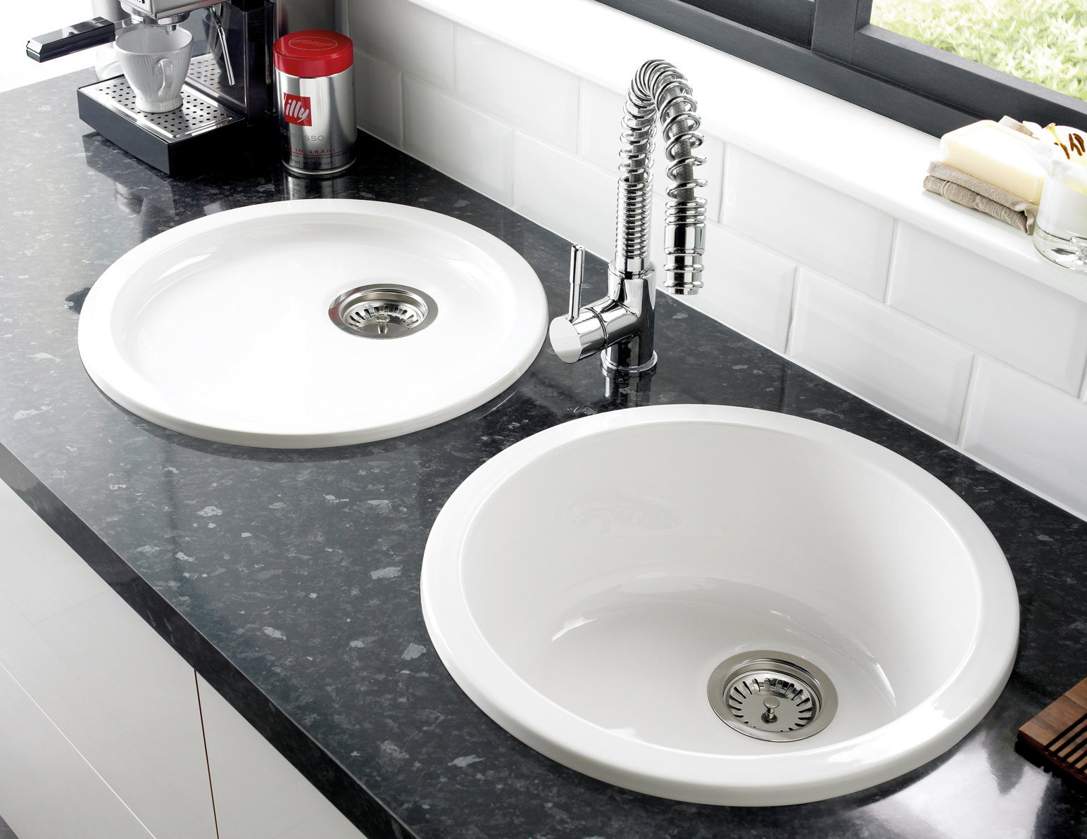 Astracast lincoln r1 460mm round bowl ceramic inset or undermount sink lnr1 - Evier ikea ceramique ...