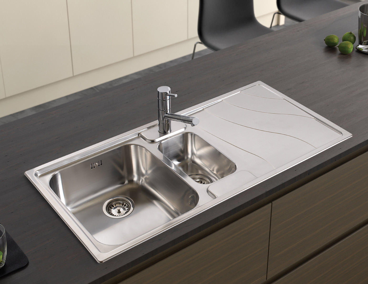 ... image of Astracast Ocean 1.5 Bowl Polished Stainless Steel Inset Sink