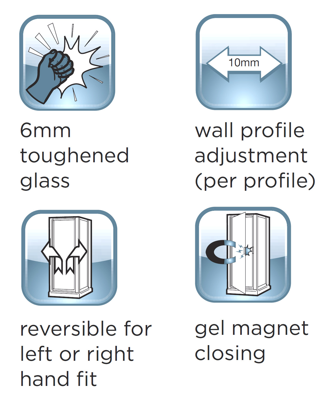 alternate image of aqualux shine bifold shower door 900mm polished silver fen0900aqu