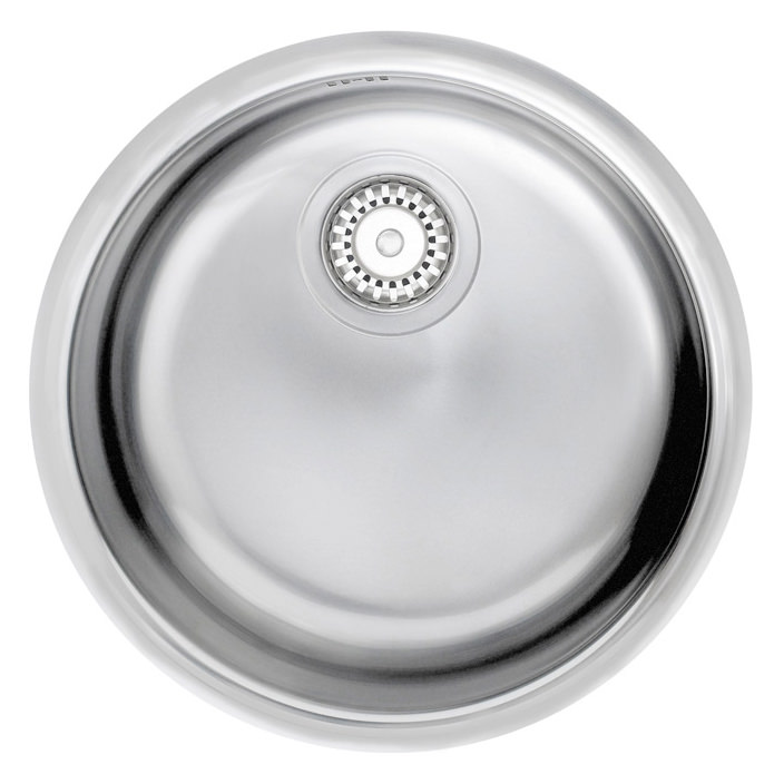 ... sink astracast onyx 1 0 round bowl polished stainless steel inset sink