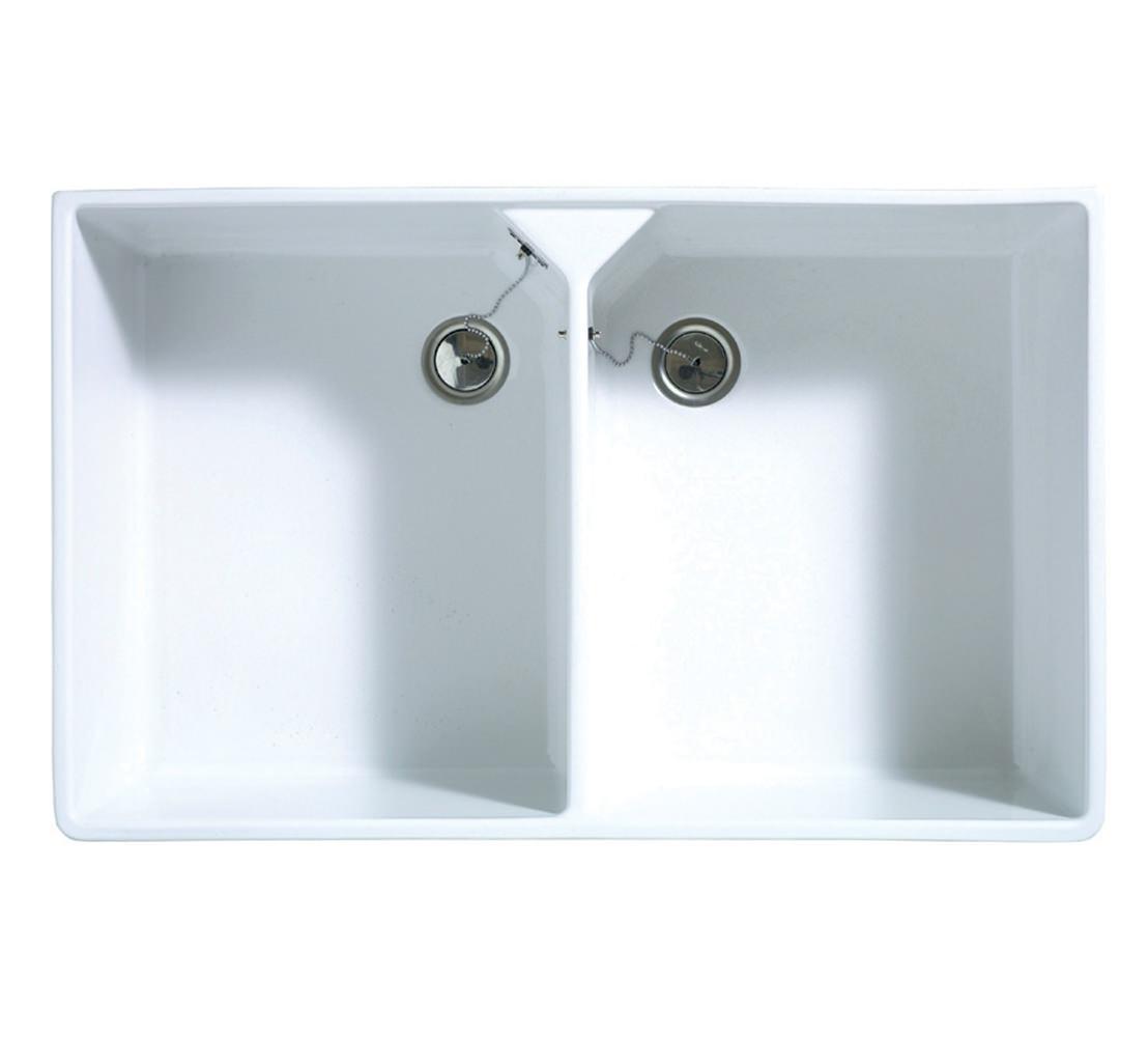 Astracast Kitchen Sinks Astracast sudbury 20 bowl ceramic gloss white sit in kitchen sink workwithnaturefo