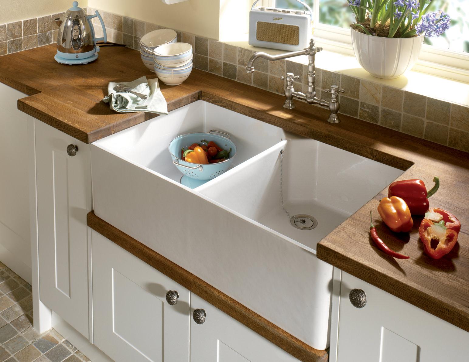 Astracast Sudbury 2.0 Bowl Ceramic Gloss White Sit-In Kitchen Sink ...