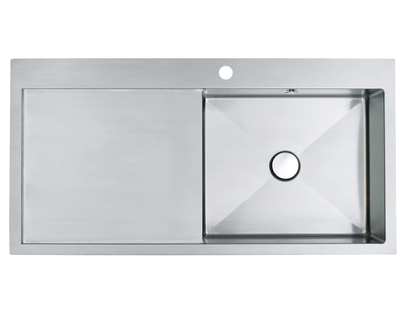 how to clean brushed stainless steel sink