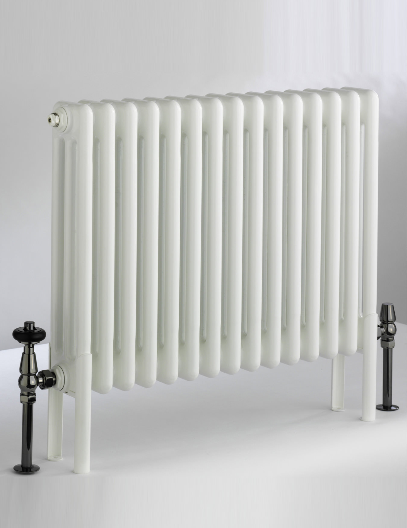 Dq Heating Peta White 3 Column Radiator 592mm High 3 600 3
