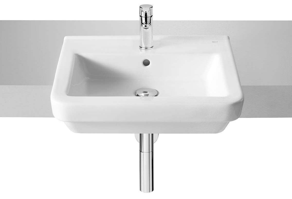 roca bathroom sinks roca dama n semi recessed basin 520mm with fixing kit 14235