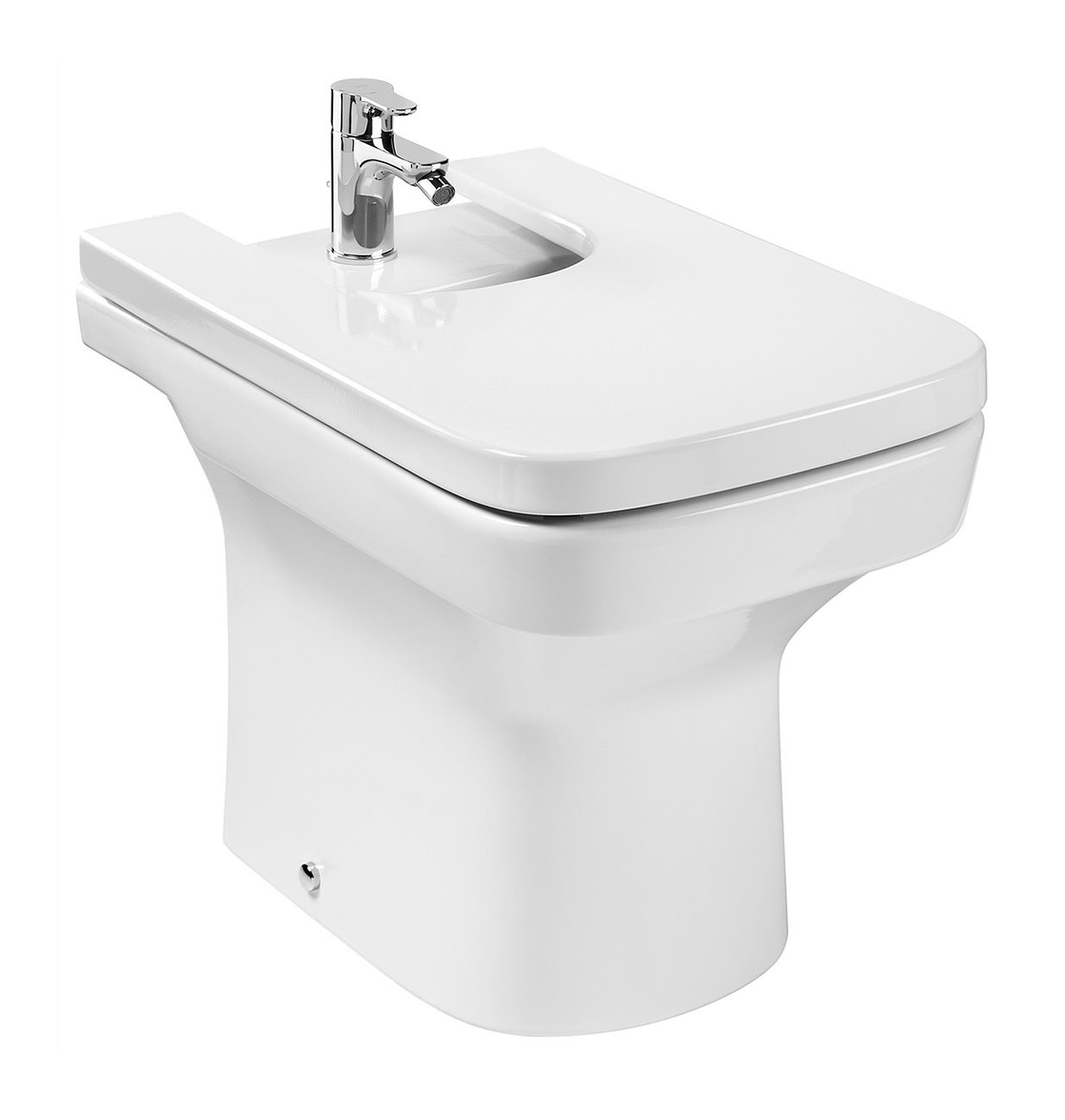 Roca dama n bidet 570mm white finish 357784000 for Roca dama toilet