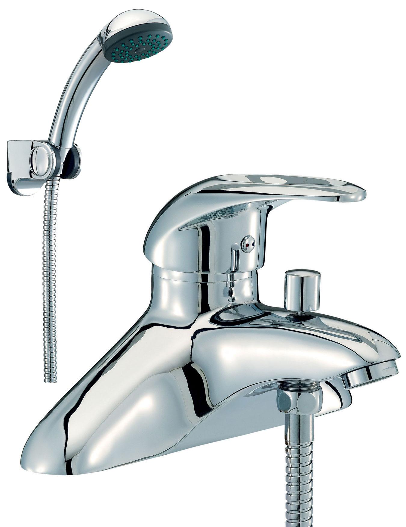 Bath Taps: Mayfair Jet Bath Shower Mixer Tap With Shower Kit Chrome