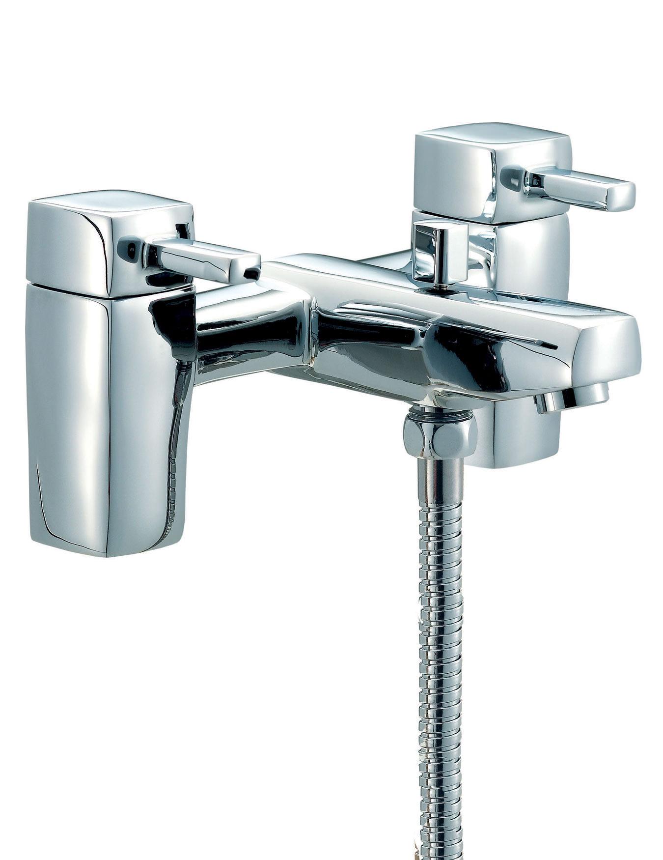 Bath Taps: Mayfair QL Bath Shower Mixer Tap With Shower Kit Chrome