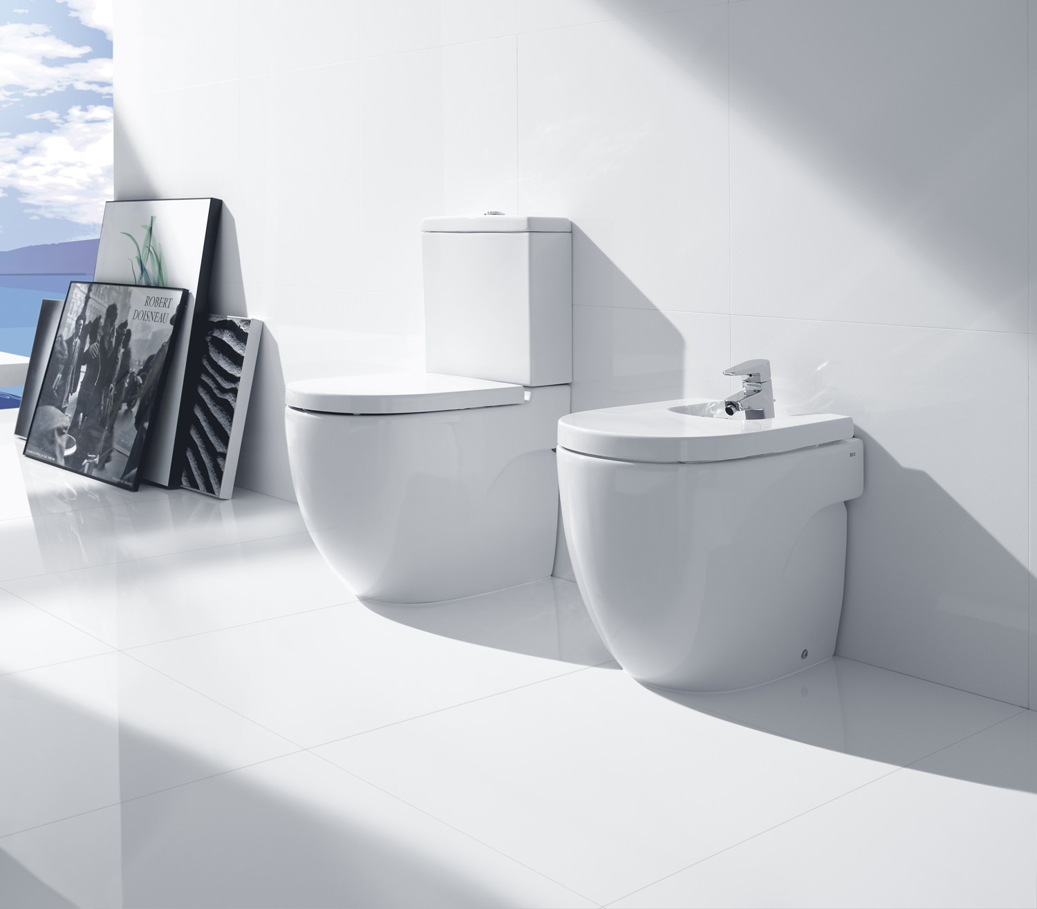 Roca meridian n compact back to wall wc set 600mm 342248000 for Wc roca meridian