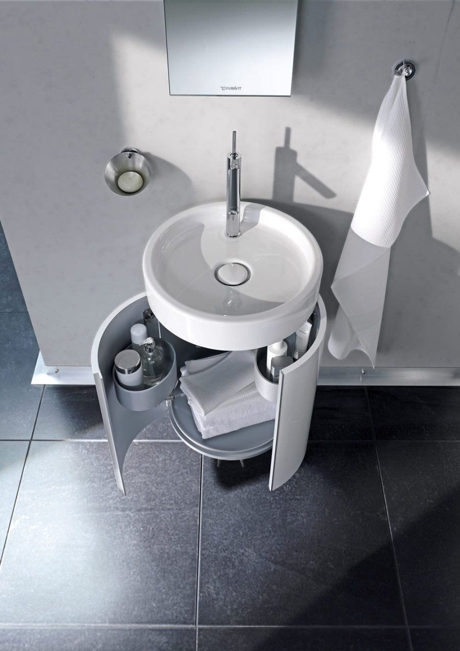 Duravit Wall Hung Basin : ... Duravit Starck Wall Mounted 450mm Circular Vanity Unit And 470mm Basin