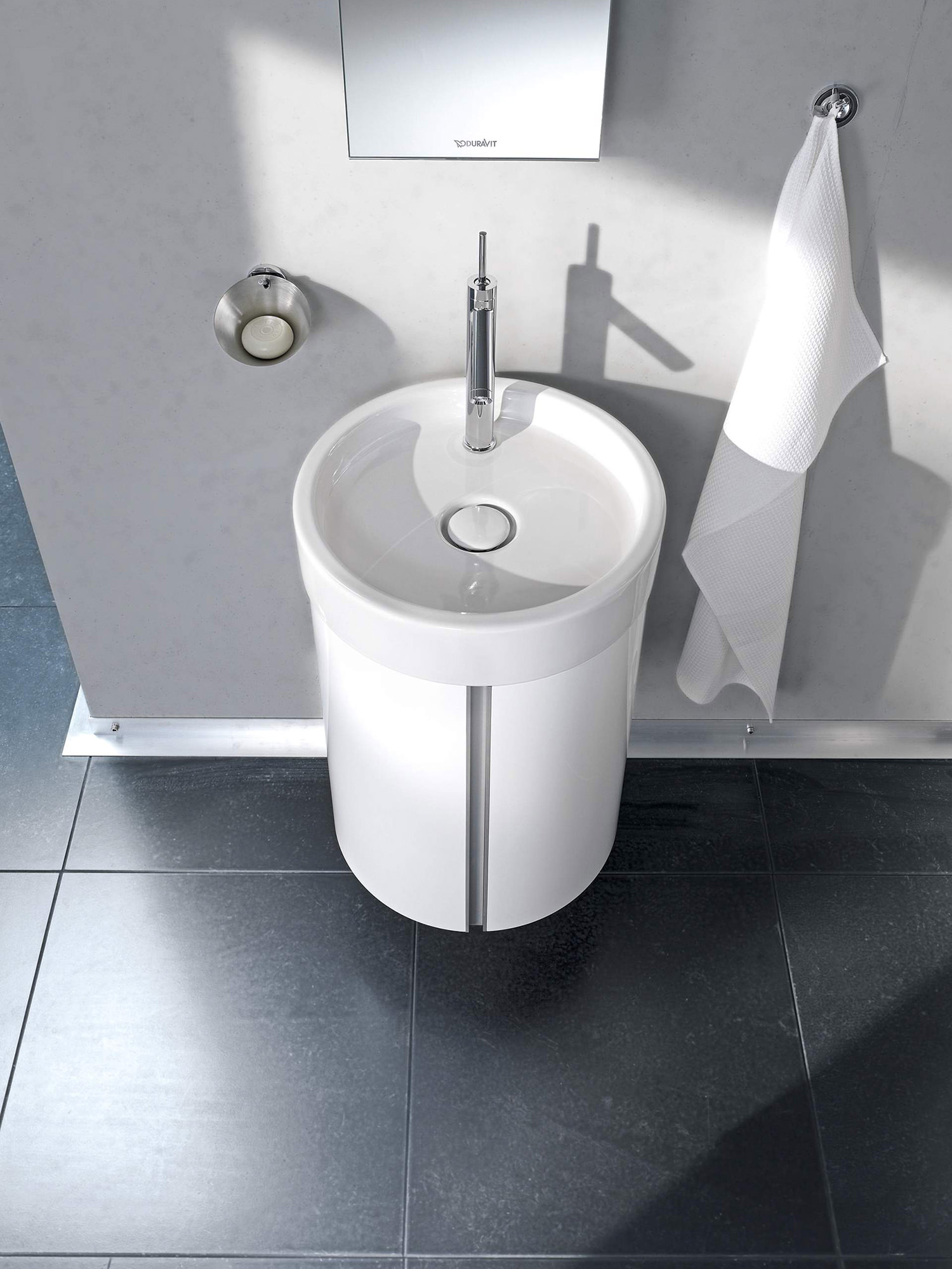 Duravit Starck Wall Mounted 450mm Vanity Unit And 470mm ...