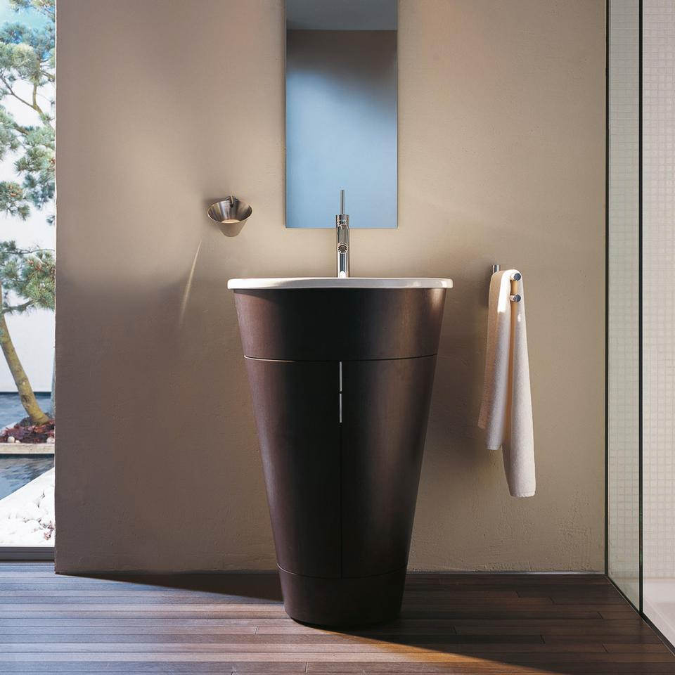 duravit starck floorstanding 560mm vanity unit and 580mm basin. Black Bedroom Furniture Sets. Home Design Ideas