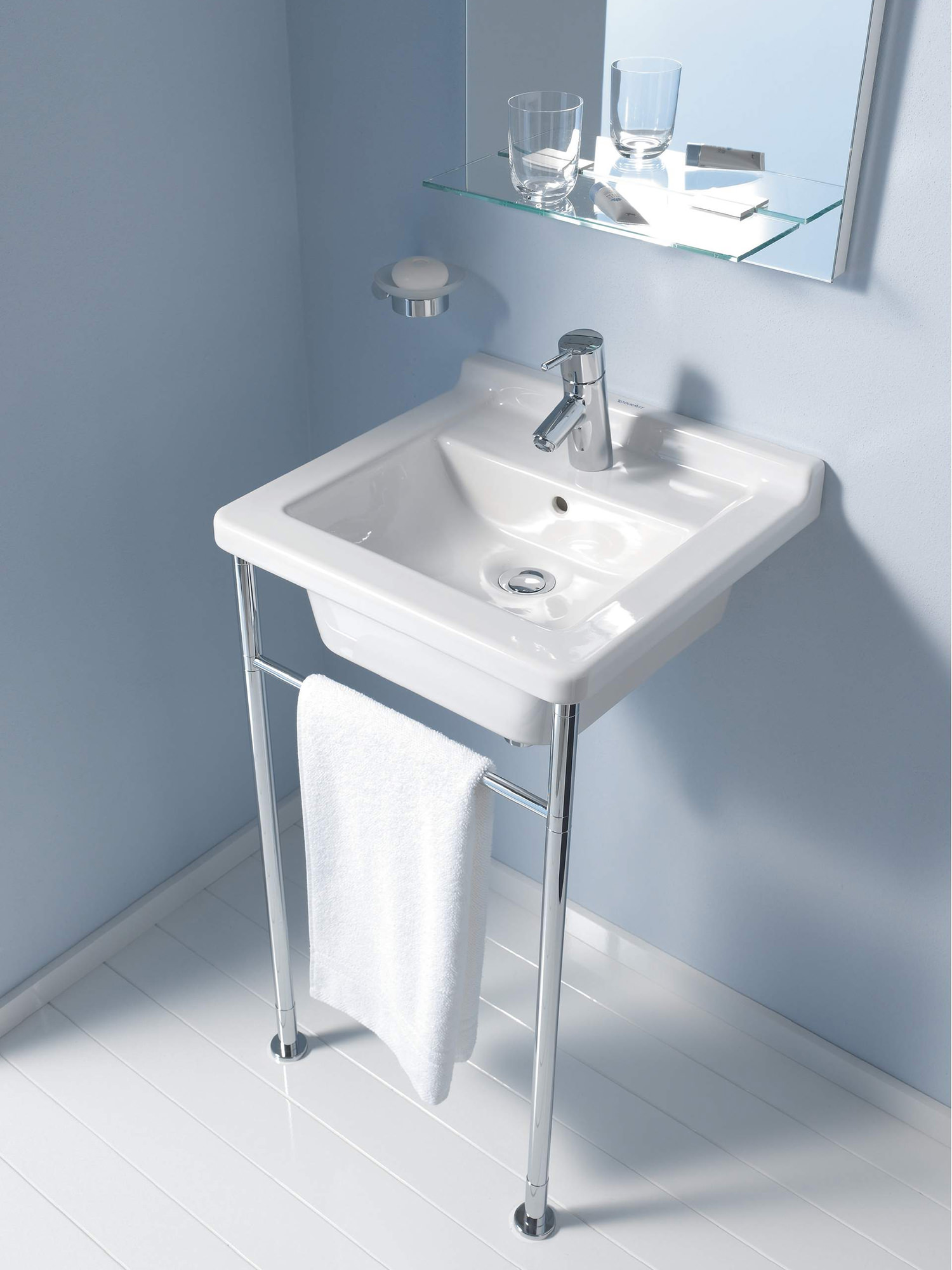 duravit starck 3 480mm single tap hole washbasin 0303480000. Black Bedroom Furniture Sets. Home Design Ideas