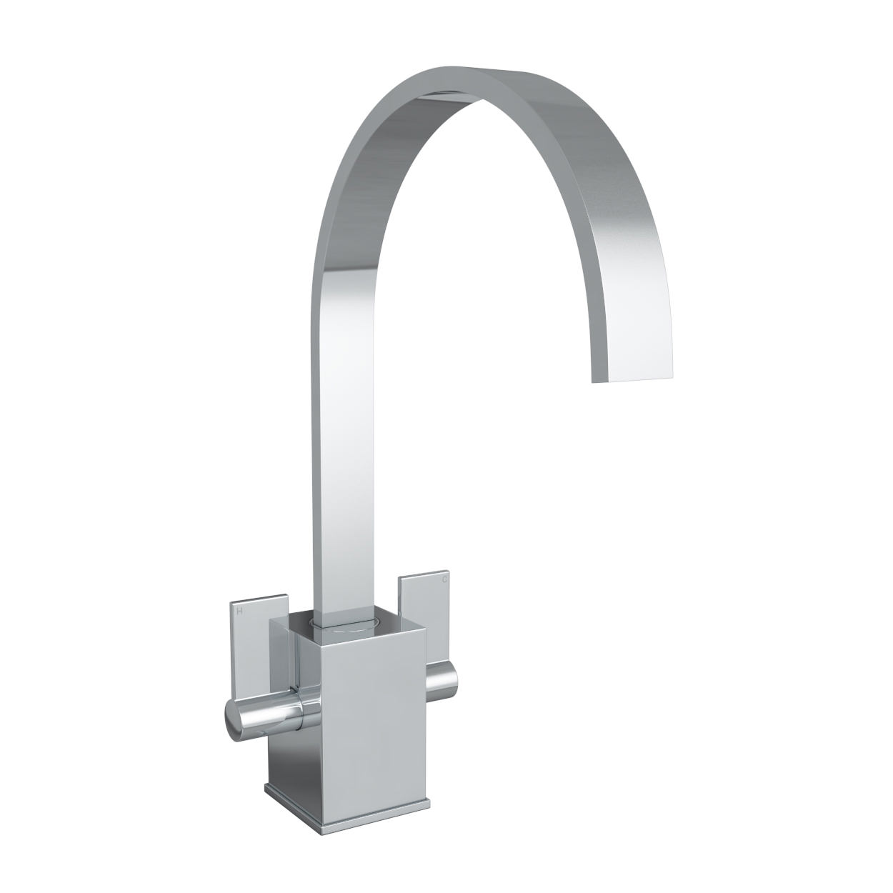 Abode contemporary atik chrome monobloc kitchen mixer tap for Bathroom taps