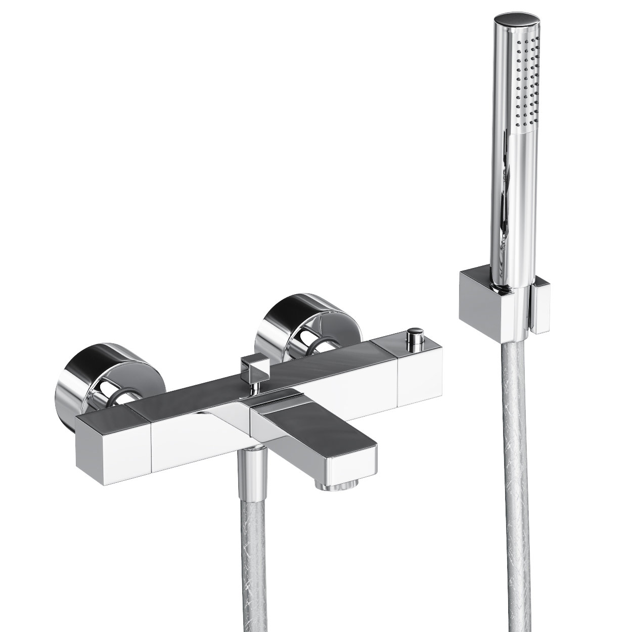 Abode Fervour Thermostatic Wall Mounted Bath Shower Mixer Tap | AB1247