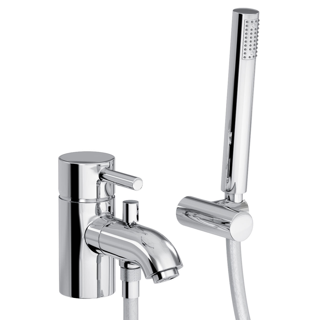 Abode Harmonie Single Lever Bath Filler Tap With Shower