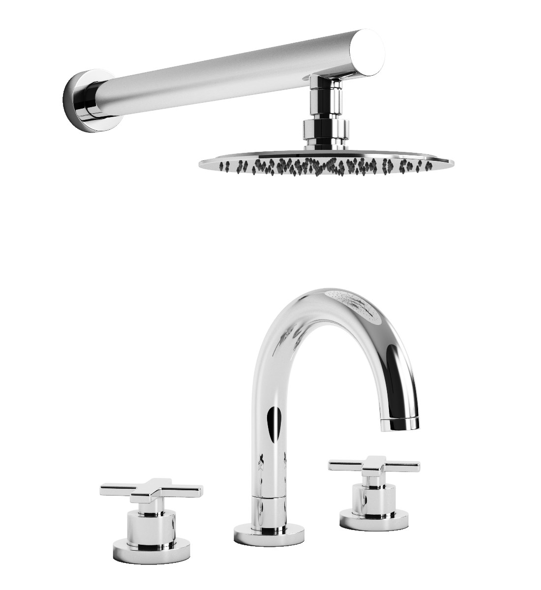 Abode Serenitie Thermostatic 3TH Bath Mixer Tap And
