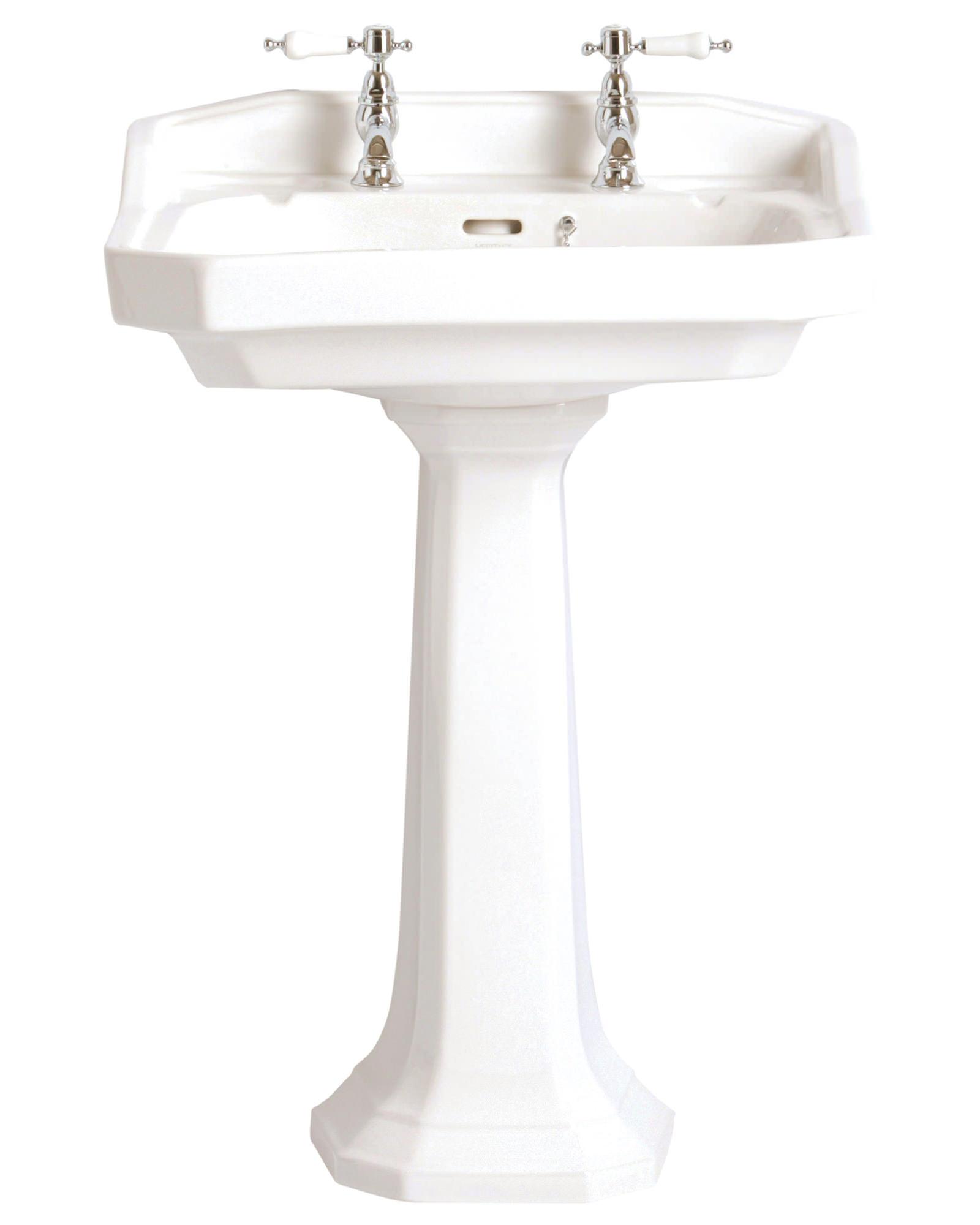 Bathroom Basin: Heritage Granley 610mm 1 Taphole Standard Basin