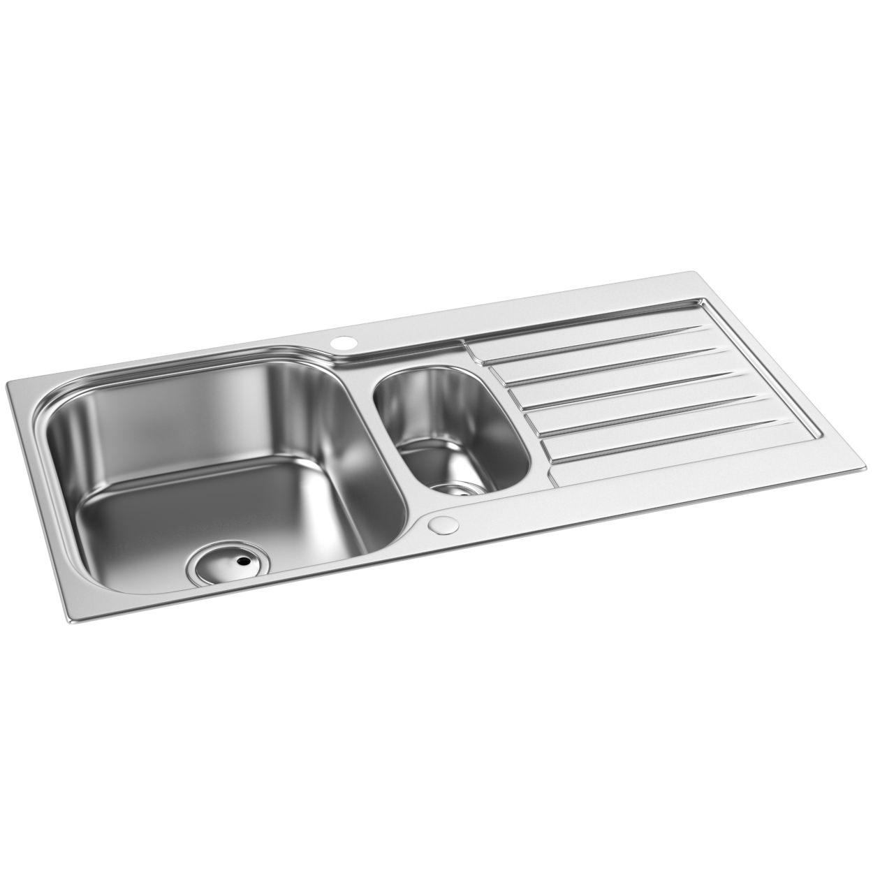 ... kitchens one and half bowl abode arka 1 5 bowl reversible kitchen sink