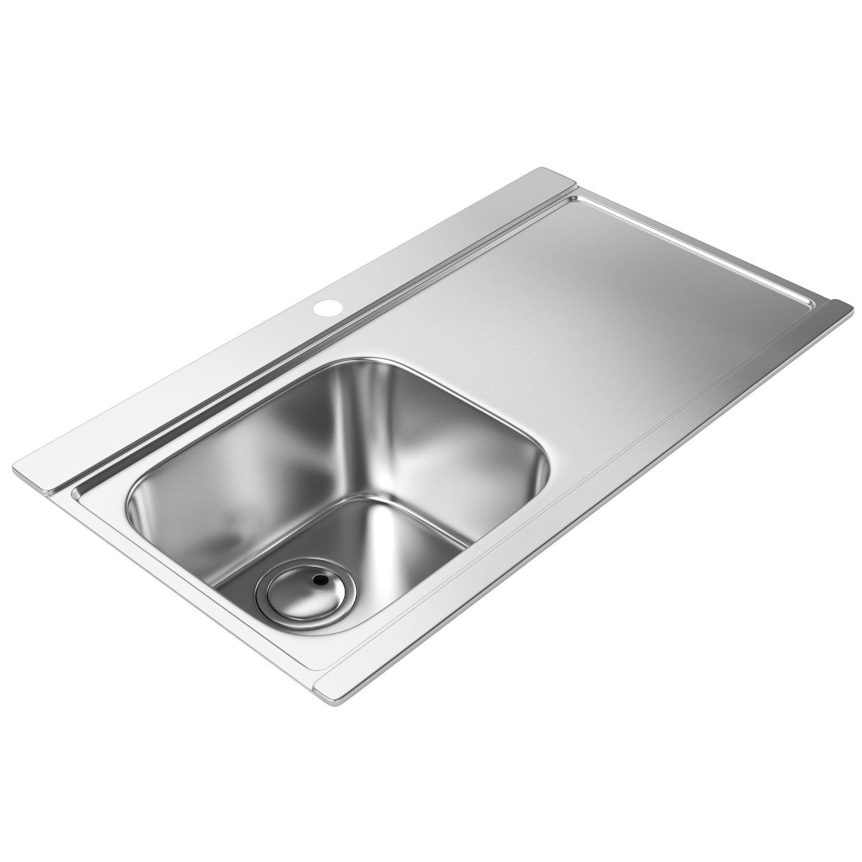 Abode Maxim One Bowl Kitchen Sink | AW5033