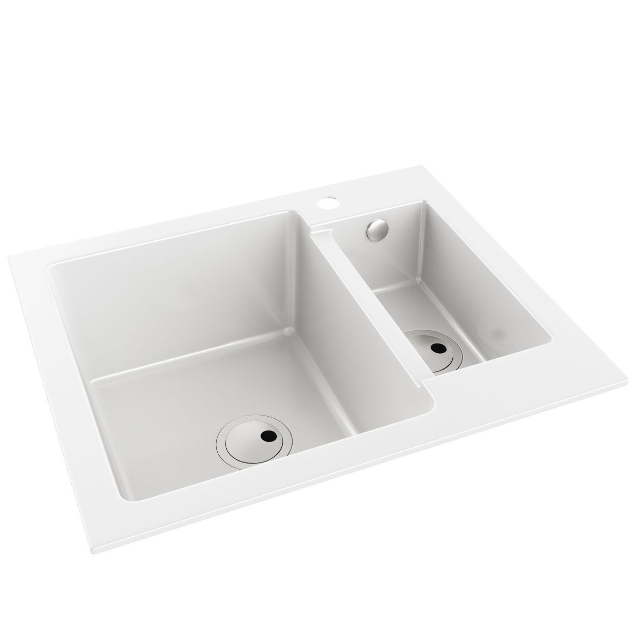 Abode Zero 1.5 Bowl Granite Kitchen Sink Without Drainer | AW3105