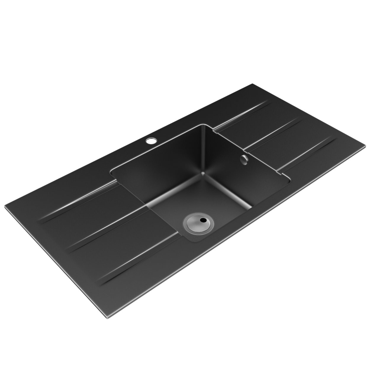 Abode Zero One Bowl Kitchen Sink With Double Drainer | AW3008