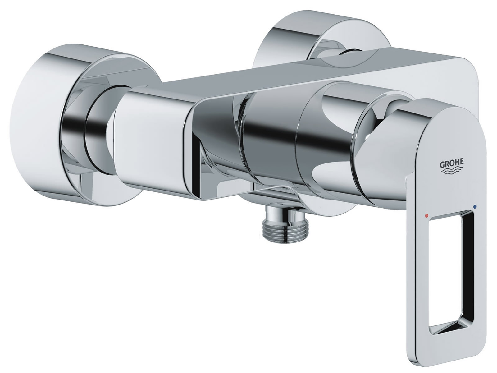 grohe quadra wall mounted exposed shower mixer valve. Black Bedroom Furniture Sets. Home Design Ideas