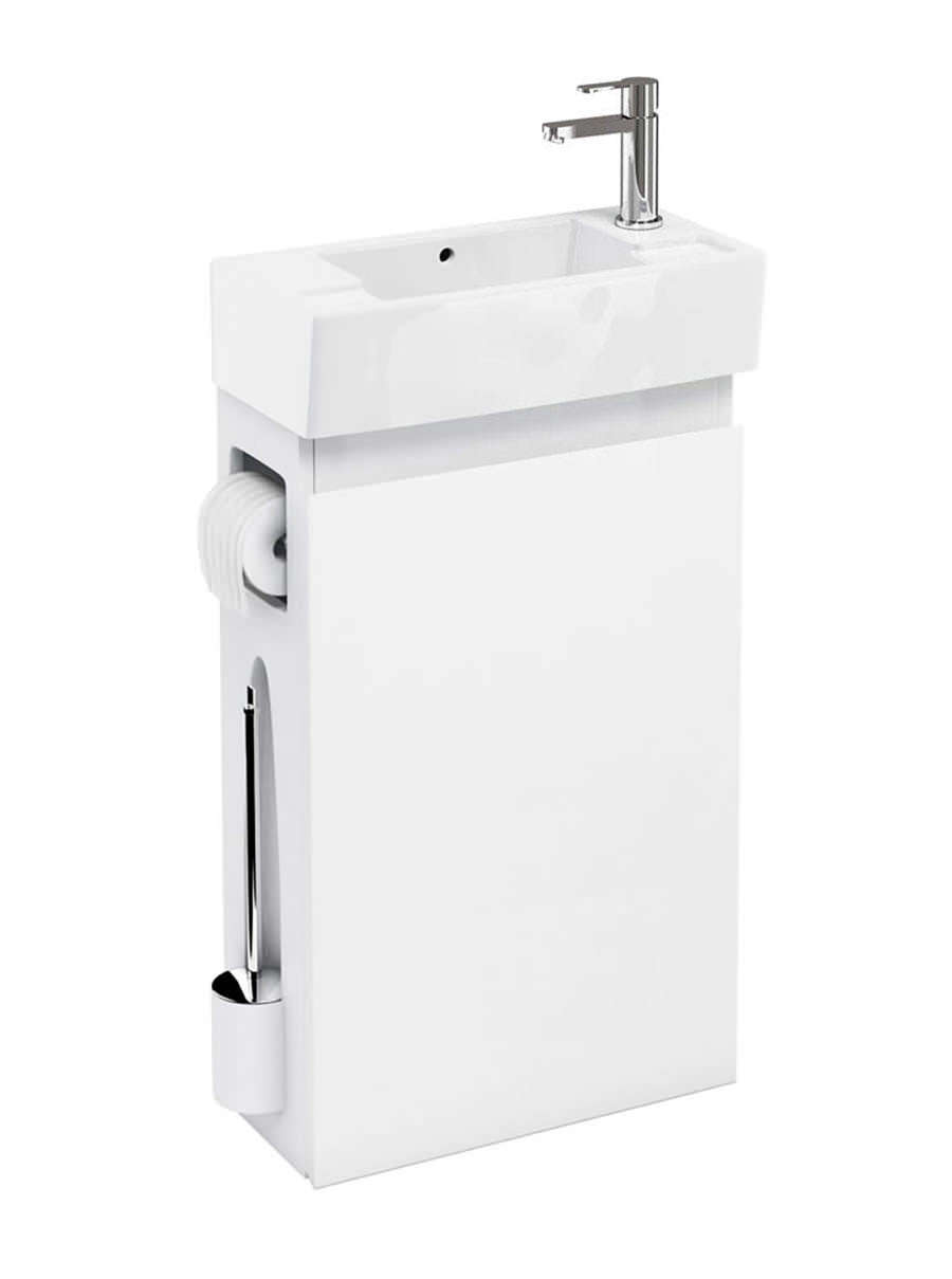 britton all in one floor standing white unit with right hand basin r50w. Black Bedroom Furniture Sets. Home Design Ideas