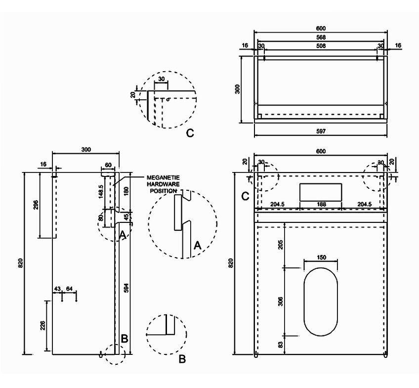 britton aqua cabinets d300 btw wc unit with flush plate w32w. Black Bedroom Furniture Sets. Home Design Ideas
