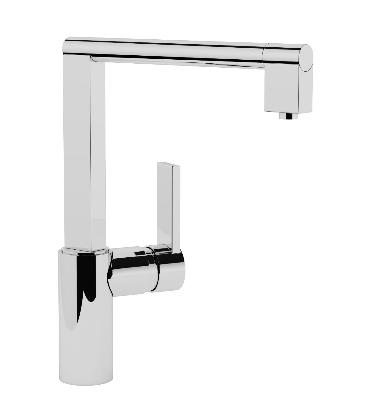 abode contemporary indus kitchen mixer tap | at1087