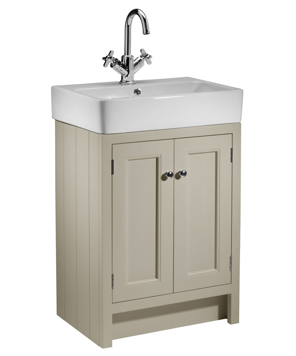 Roper rhodes hampton 550mm countertop unit mocha and basin for Large bathroom units