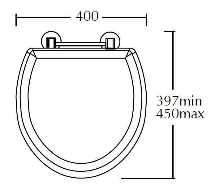 Standard Toilet Dimensions Imperial : Imperial Carlyon Standard Toilet Seat Natural Oak  XJ50000120